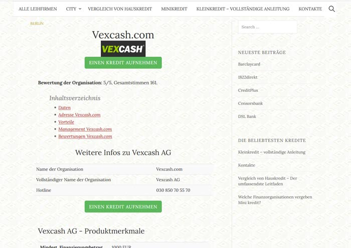 vexcash.com erfahrungen